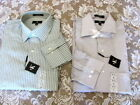 CALVIN KLEIN CK Dress Shirts Pin Stripe Green  Large 16 32/33 NEW