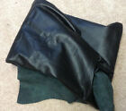 Z10 Leather Hide Hides Cowhide Upholstery Craft Fabric Black