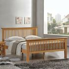 Harmony Beds Buckingham Wooden Bed Frame+Mattress - Oak/White Finish - All Sizes