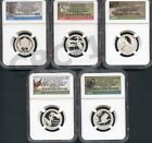 2015 S  SILVER PROOF QUARTER SET ATB NGC PF70 ER FROM THE 14-COIN SILVER PF SET