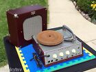 Works Great-vintage Newcomb Tr-16am Portable Turntable Record Player Machine Age