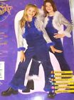 Shimmering Blue Diva Silver Costume Dance S M L NWT