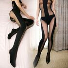 Sexy Lingerie Babydoll Teddy Bodysuit Sheer Opaque BODYSTOCKING OPEN Crotch Box