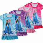 Girls Kid Queen Frozen Princess Anna Elsa Pajamas Dress 3-8Y Sleepwear Nightwear