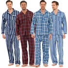 Mens Traditional Flannel PJ Pyjama Set Night Wear PJ's Pyjamas Sets Gents Cotton