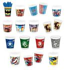 8 PARTY CUPS - Range of MARVEL/DC Designs (Kids/Birthday/Party/Tableware)