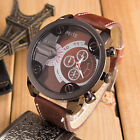 Fashion Luxury Mens Women Watch Analog Sport Steel Quartz Leather Wrist Watch