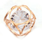 10x Hot Golden Hollow Hexahedron With Zircon Alloy Charms Findings Ornaments LC