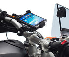 Motorcycle Handlebar Clamp Bolt Mount + Universal Holder for Samsung Galaxy S4