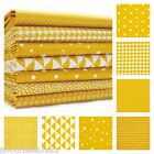 MONO GEOMETRICS - MUSTARD YELLOW 160cm WIDE 100% COTTON FABRIC PATCHWORK FASHION