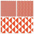 MONO GEOMETRICS - ORANGE 160cm WIDE 100% COTTON FABRIC PATCHWORK FASHION