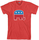 Threadrock Mens Republican Elephant T-shirt GOP Symbol Political USA Campaign