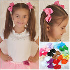 10pcs Girls Baby Grosgrain Ribbon Bows Clips Scrunchie Rubber Band Hair Accs