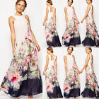 Women Summer Vintage Boho Evening Party Long Maxi Bohemian Chiffon Beach Dress
