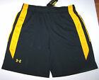 Nwt New Under Armour UA Team Roster Shorts HeatGear Loose Fit Black Gold Men