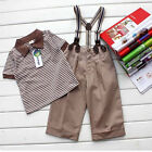 Fashion Baby Boy Toddler Clothes Strips 3Pcs Gentleman Outfit Set Cute Clothing