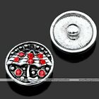 1pc Crystal Umbrella Charms Snap On Button Fit Buckle Bracelet Unisex New