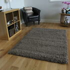 Big Soft Touch Durable Taupe Shaggy Rugs Non Shed Easy Clean Cheap Grey Carpet