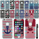 For Apple Iphone 6 Plus 5.5 inch BLINGS HYBRID Silicone HARD Case Cover + Pen