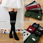 New Women Lovely 3D Cartoon Thigh Stockings Over Knee High Cotton Socks
