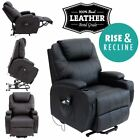 CINEMO ELECRTIC RISE RECLINER LEATHER MASSEAGE HEAT ARMCHAIR SOFA LOUNGE CHAIR