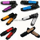 Universal 6 Color 8mm Passenger Rear Foot Pegs Pedal For YZF R1 R6 R6S FZ XJR TL