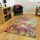 Small Large Multi Coloured Modern Rugs Soft Bright Easy Clean Carpet Rug Cheap