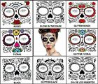 DAY OF THE DEAD FACE Temporary Tattoos - 8 Designs to choose from All New Styles