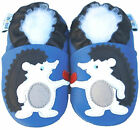 Littleoneshoes Soft Sole Leather Baby Infant Kids Hedgehod Gift Shoes 6-12M