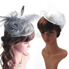 Ladies Day Sinamay Feather Wedding Bridal Cocktail Hat Fascinator Party Church