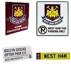 WEST HAM METAL SIGNS (Metal Door Sign, Street Sign)Official Club Merchandise