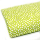 RICE GRAIN DOTS - LIME GREEN - 100% COTTON FABRIC extra wide 160cm