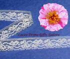 "6 Yards Lace Trim White Scalloped 5/8"" Floral I33AV Added Items Ship No Charge"