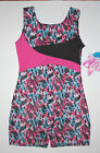 Nwt New Jacques Moret Biketard Unitard Tank Colorful Wild Forest Cute Nice Girl