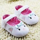 Infants Baby Girl White toddler shoes Crib shoes Soft soles Size 0-18 Months