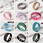 New Arrival Women's Crystal Rhinestone Bracelet Bangle Leather Wrap Wristband