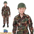 KIDS ARMY CAMO CAMOUFLAGE SOLDIER - Age 5-10 - Boys Child Fancy Dress Costume