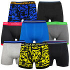 6 Pack Mens Location Boxer Shorts Trunks Gift Underwear Novelty Cotton Boxers