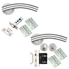Arched Door Handle Sets Internal Door Packs Lever Furniture Stainless Steel