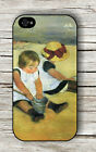 CHILDREN ON THE SHORE ART BY  MARY CASSATT CASE FOR iPHONE 4 5 5C 6 -wnh6Z