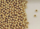 14K Gold Filled 3mm Seamless Round Spacer Beads, Choice of Lot Size & Price