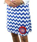 Chevron Chicago Cubs Royal Gameday A Line Striped Yoga Sport Women Skirt XS ~ XL