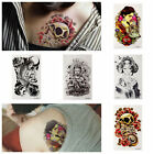 Sexy Removable Magic Skull Tattoos Flash Inspired Temporary Tattoo Stickers Cool