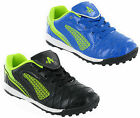Ascot Black Blue Shiny Astro Turf Boys Football Sports Trainers Boots Shoes