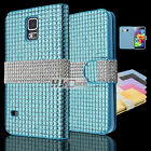 For Galaxy Note 5 Edge G928 Luxury Diamond Leather PU WALLET POUCH Case Colors