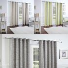 Curtina® LINED EYELET CURTAINS SOMERFORD NATURAL GREEN DOVE GREY