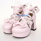 #9803P Sweet Gothic Punk KERA LOLITA shoes DOLLY Punk platform shoes 7.5cm heel