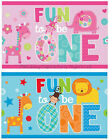 1st First Birthday Party Plastic Table Cover Tablecloth Blue or Pink Tablecover