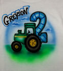 TRACTOR BIRTHDAY AIRBRUSH T SHIRT NEW PERSONALIZED INFANT, TODDLER & YOUTH SIZES