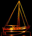 """Yacht Boat Boating Ocean Edge Lit Awesome 21"""" Lighted Sign LED Plaque USA Made"""